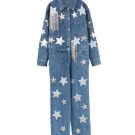 Комбинезон джинсовый «Звезды»