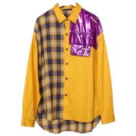 Рубашка Yellow с клеткой и фиолетовым