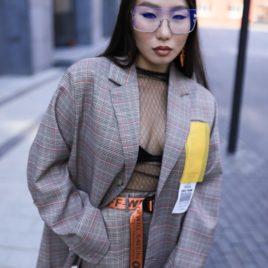 Пиджак Over size светло-коричневый