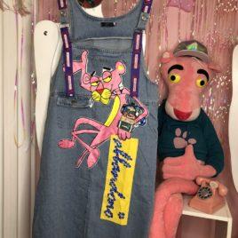 Сарафан джинсовый «Розовая пантера»