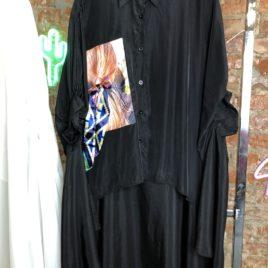 Рубашка Super Over size с девочкой черная