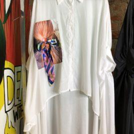Рубашка Super Over size с девочкой белая
