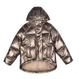 Куртка дутая металлик бронза