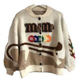 Бомбер вязаный M&M's кремовый