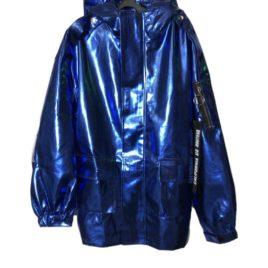 Куртка металлик эко-кожа BLUE