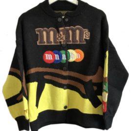 Бомбер вязаный M&M's черный
