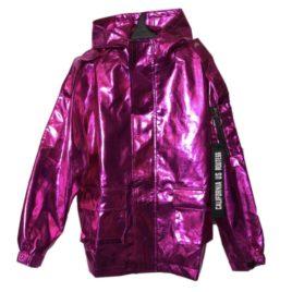 Куртка металлик эко-кожа Pink