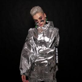 Куртка металлик эко-кожа SILVER