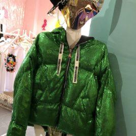 Куртка Зеленая в пайетках
