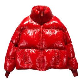 Куртка дутая красная с надписью