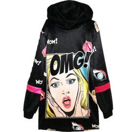 Худи бархат OMG pop-art