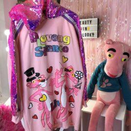 Худи теплое Pink Panther Розовое