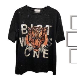 Туника черная «Тигр»