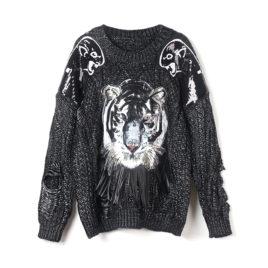 Свитер «Тигр» черный