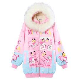 Куртка -Бомбер принт «Розовая пантера»