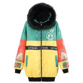Куртка-Бомбер принт «Медведь»